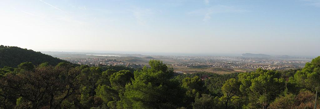 Panoramica dalla pineta di Sinnai